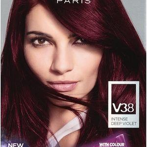 2 Boxes** of Purple Burgundy Hair Dye
